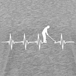 Heartbeat Golf 2 - Men's Premium T-Shirt