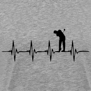 Heartbeat Golf 3 - Men's Premium T-Shirt