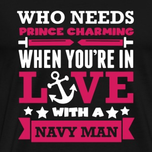 Prince Charming Navy - Men's Premium T-Shirt