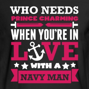 Prince Charming Navy - Men's Long Sleeve T-Shirt