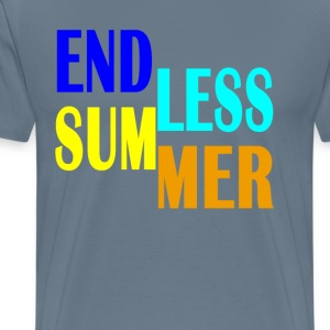endless_summer_vintage_typography_shirt_ - Men's Premium T-Shirt