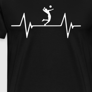 Volleyball Player Women's Heartbeat Love T-Shirt T-Shirts - Men's Premium T-Shirt