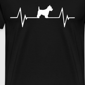 West Highland Terrier Heartbeat Love T-Shirt T-Shirts - Men's Premium T-Shirt