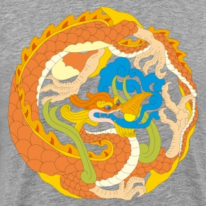 Golden dragon Chinese classical pattern - Men's Premium T-Shirt