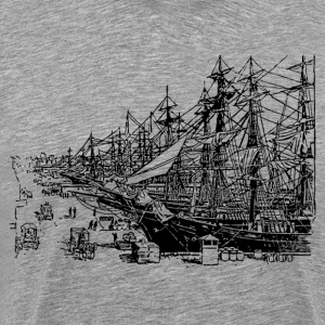 Ships on the dock clip art - Men's Premium T-Shirt