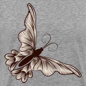 Brown butterfly drawing - Men's Premium T-Shirt
