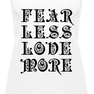 Fear Less Love More Tanks - Women's Premium Tank Top