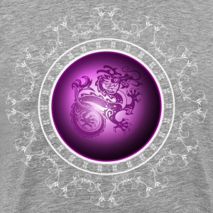 Purple dragon art - Men's Premium T-Shirt