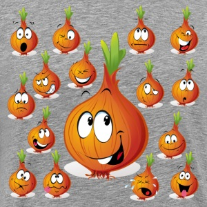 Orange onion smiley T-Shirts - Men's Premium T-Shirt