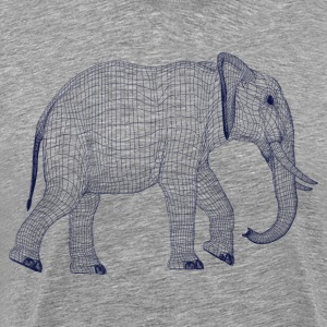 Elephant line art T-Shirts - Men's Premium T-Shirt
