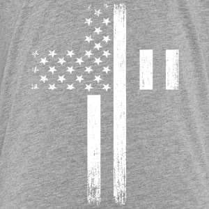 Vintage USA Flag Cross Baby & Toddler Shirts - Toddler Premium T-Shirt