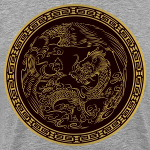 Classical dragon round T-Shirts - Men's Premium T-Shirt