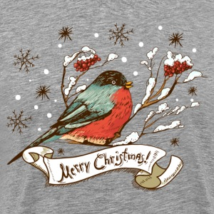 Vintage hand drawn Christmas background art T-Shirts - Men's Premium T-Shirt