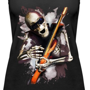 Skeleton Guitarist - Women's Premium Tank Top