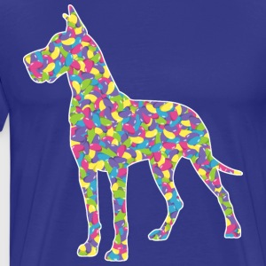 Easter Jellybean Great Dane - Men's Premium T-Shirt