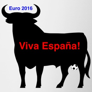 Spanish bull at the Eurocup 2016 - Contrast Coffee Mug