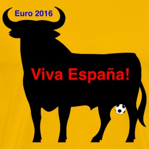 Spanish bull at the Eurocup 2016 - Men's Premium T-Shirt