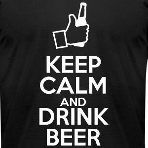 Keep Calm and Drink Beer T-Shirts - Men's T-Shirt by American Apparel