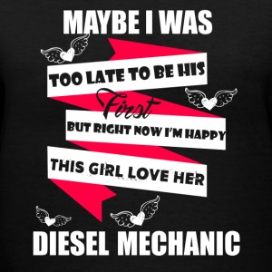 Loves Diesel Mechanic - Women's V-Neck T-Shirt