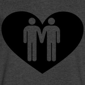 Gay love T-Shirts - Men's V-Neck T-Shirt by Canvas