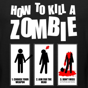 how to kill a zombie Sportswear - Men's Premium Tank