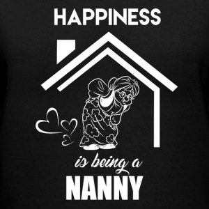 Happiness Is Being Nanny - Women's V-Neck T-Shirt