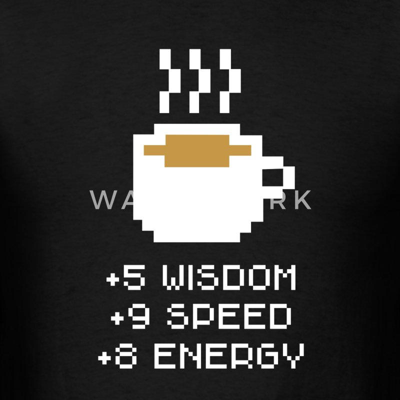 Coffee Stats T-Shirts - Men's T-Shirt
