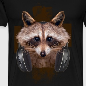 MUSIC LOVER RACCOON VI - Men's Premium T-Shirt