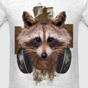 MUSIC LOVER RACCOON VI - Men's T-Shirt