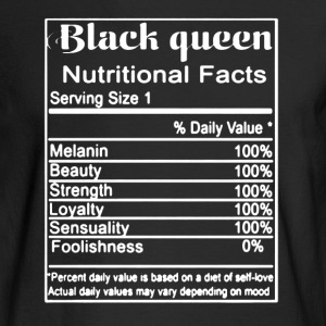 Queen Nutritional Shirt - Men's Long Sleeve T-Shirt