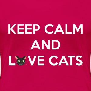 Keep Calm and Love Cats Women's T-Shirts - Women's Premium T-Shirt