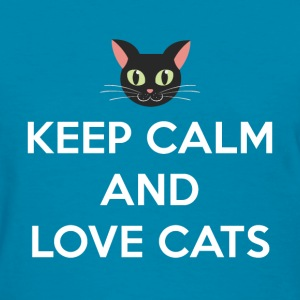 Keep Calm and Love Cats - Women's T-Shirt