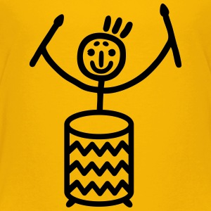 Stick figure with Samba drum Kids' Shirts - Kids' Premium T-Shirt