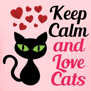 Keep Calm and Love Cats Women's T-Shirts - Women's T-Shirt