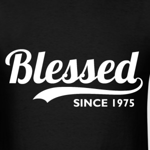Blessed since 1975 - 41st Birthday Thanksgiving  - Men's T-Shirt