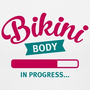 Bikini Body In Progress Women's T-Shirts - Women's V-Neck T-Shirt