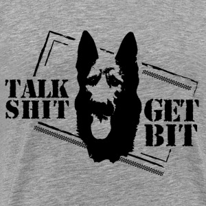 Talk shit - get bit - Men's Premium T-Shirt