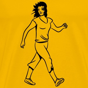 walking sport woman T-Shirts - Men's Premium T-Shirt
