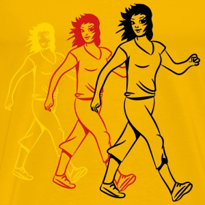 walking female sport T-Shirts - Men's Premium T-Shirt