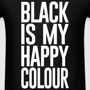 BLACK IS MY HAPPY COLOUR - Men's T-Shirt