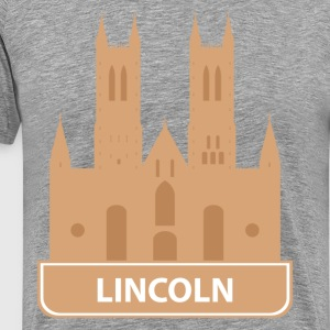 National landmark Lincoln silhouette T-Shirts - Men's Premium T-Shirt