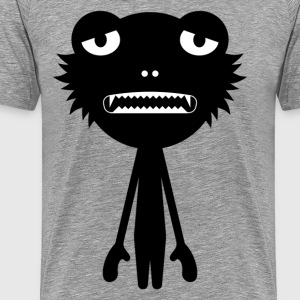 Cartoon monster silhouette - Men's Premium T-Shirt