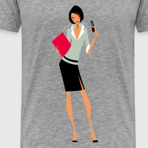 Glamorous girl design - Men's Premium T-Shirt