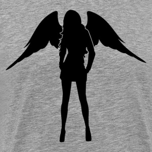 Angel with wings silhouette T-Shirts - Men's Premium T-Shirt