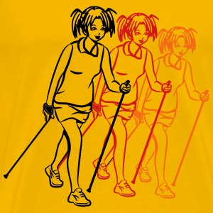 nordic walking girl stylized T-Shirts - Men's Premium T-Shirt