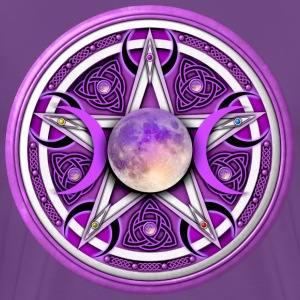 Purple Moon Pentacle - Men's Premium T-Shirt