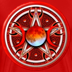 Red Moon Pentacle - Men's Premium T-Shirt