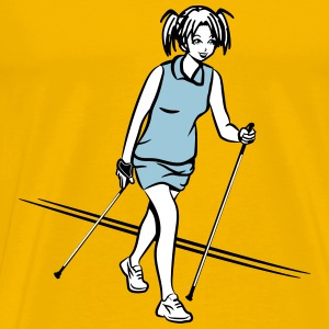 nordic walking girl T-Shirts - Men's Premium T-Shirt