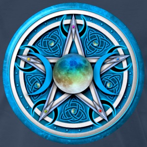 Blue Moon Pentacle - Men's Premium T-Shirt