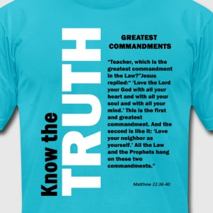 Greatest Commandments T-Shirts - Men's T-Shirt by American Apparel